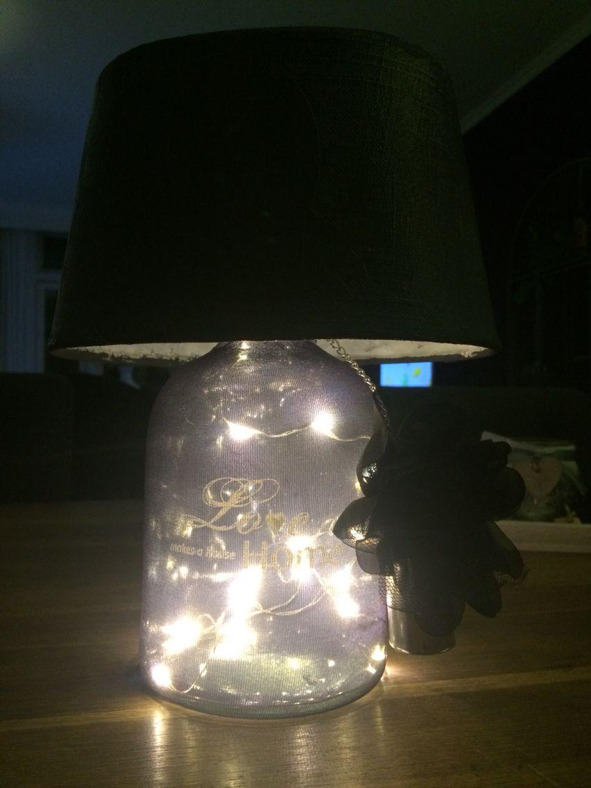 DIY lamp gemaakt van artikelen gekocht bij de action en zeeman 1 ...