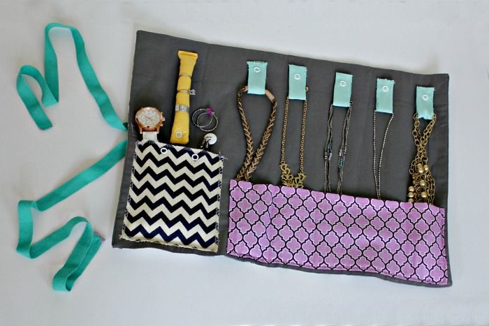 DIY Travel Jewelry Organizer Placemat Organizing and Sewing projects