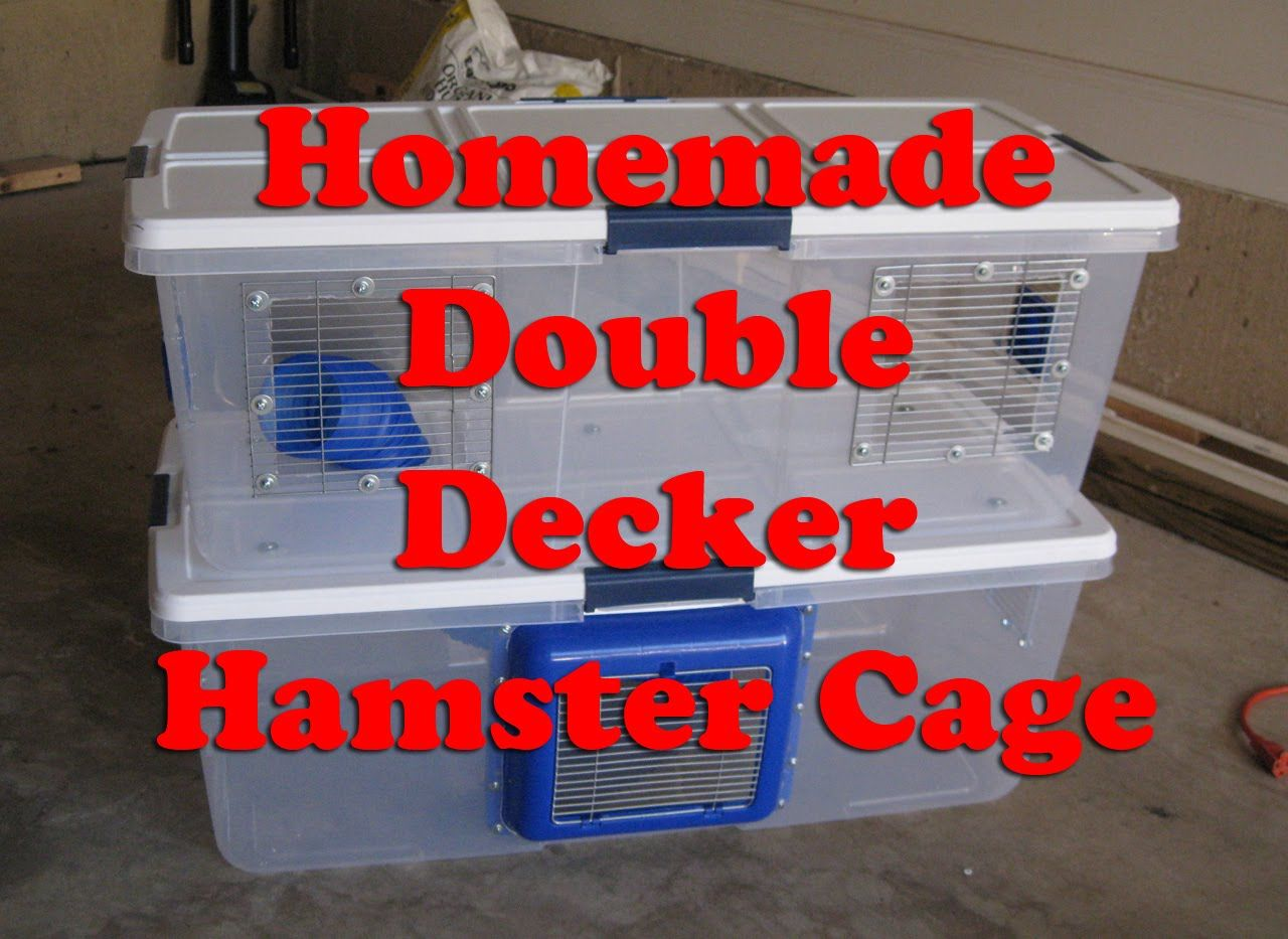 Homemade Double Decker Hamster Cage By Hammy Time Hamster Cage