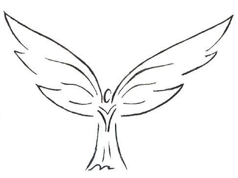 Tribal Angel Tattoos New Tribal Angel Wings New Tribal Angel Tattoo Angel Wings Tattoo Small Angel Tattoo Angel Outline