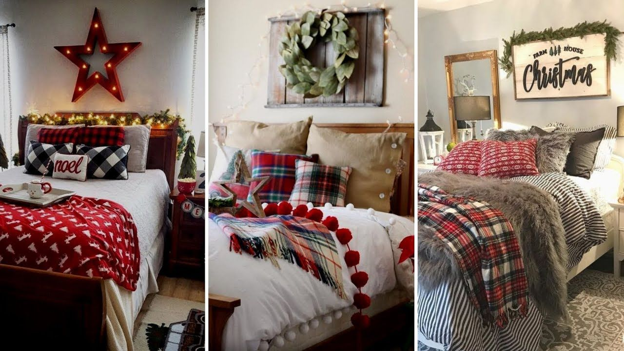 DIY Rustic Farmhouse style Christmas bedroom decor Ideas
