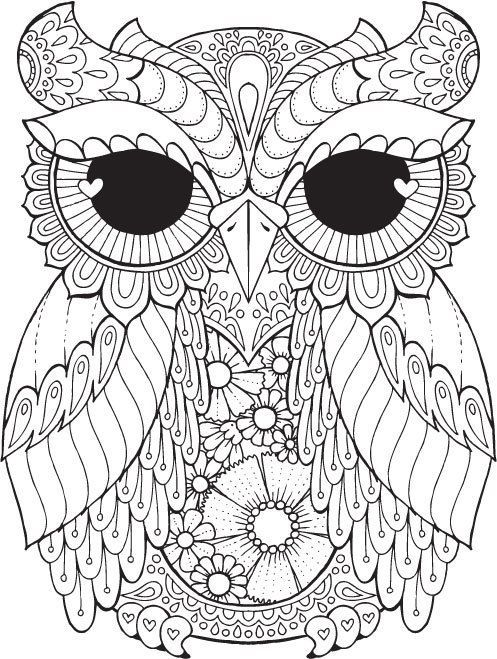 Kurby Owl Colour with Me HELLO ANGEL coloring design detailed