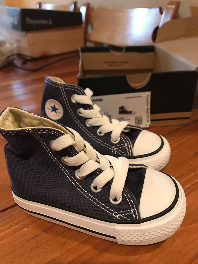 Infant shoes size 4 blue white lace-up Converse All Star F46  fashion   df9a2ac4a