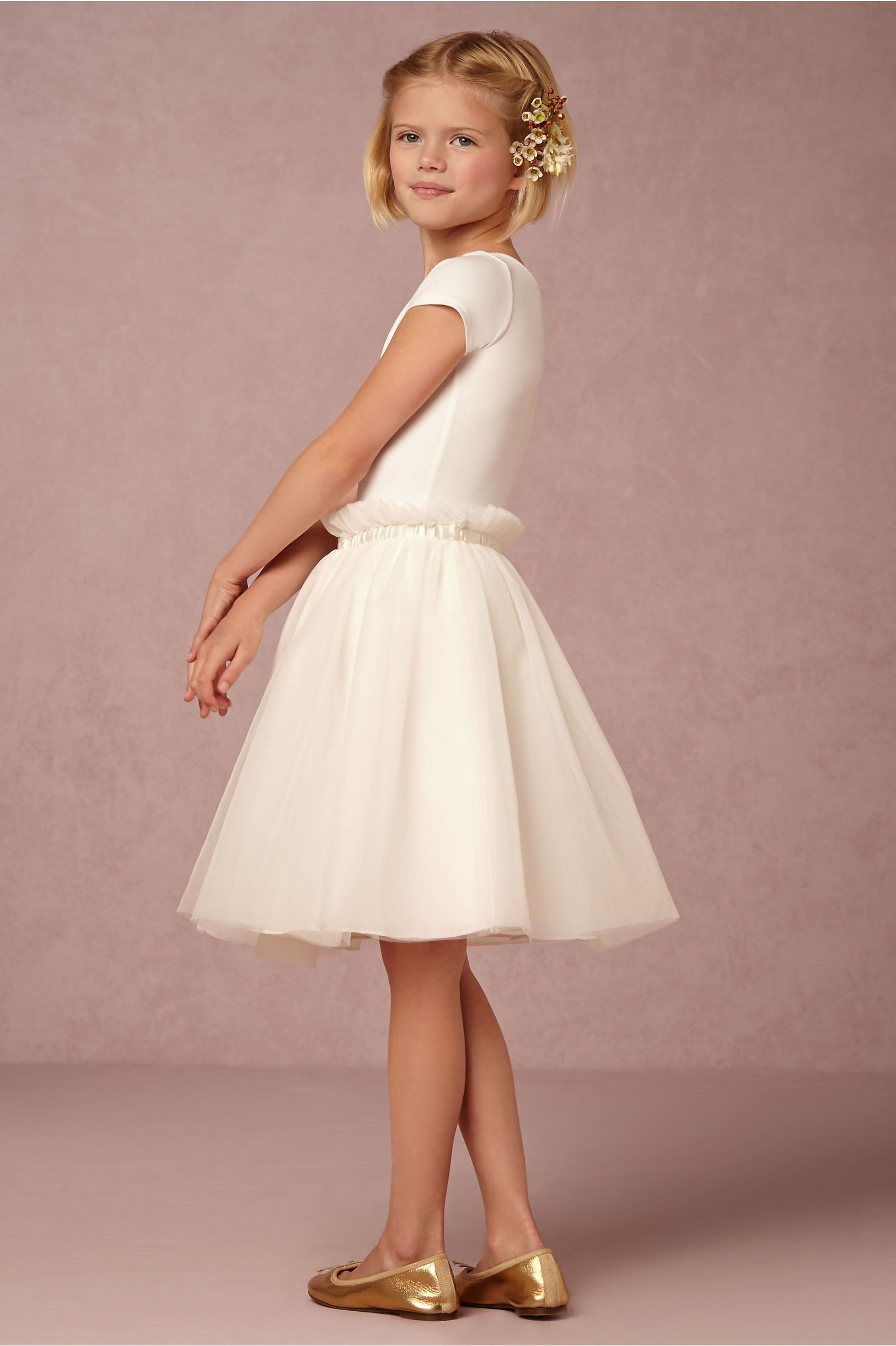 white, tulle flower girl skirt | Giselle Skirt from BHLDN | Flower ...