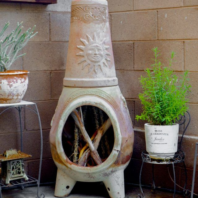 How To Repair A Clay Chiminea Hunker Clay Chiminea Chiminea Clay Fire Pit