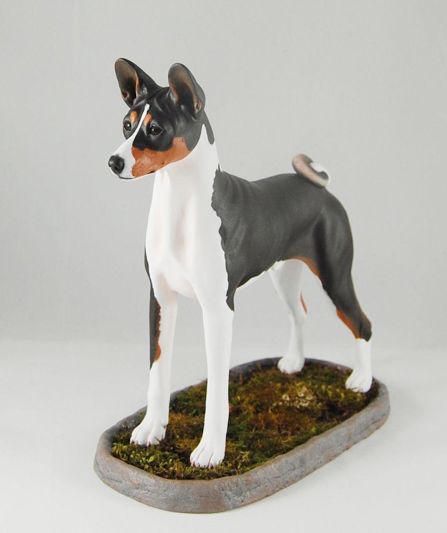 Custom Made Basenji Figurine Dog Art Dog Sculpture Dog Artwork