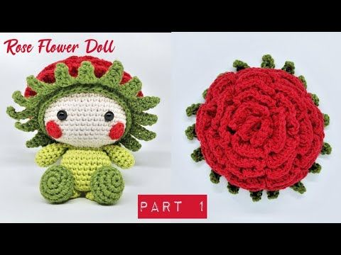ROSE FLOWER DOLL PART 1 | HOW TO CROCHET | AMIGURUMI TUTORIAL