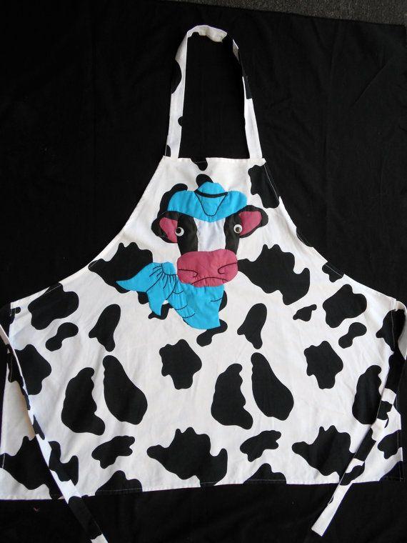Cow print apron by Annesuniqueboutique on Etsy, $12.00