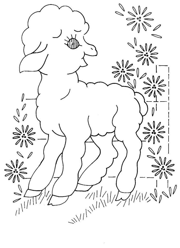 baby quilt animals 2 e | ternuritas | Pinterest | Bordado, Dibujos ...