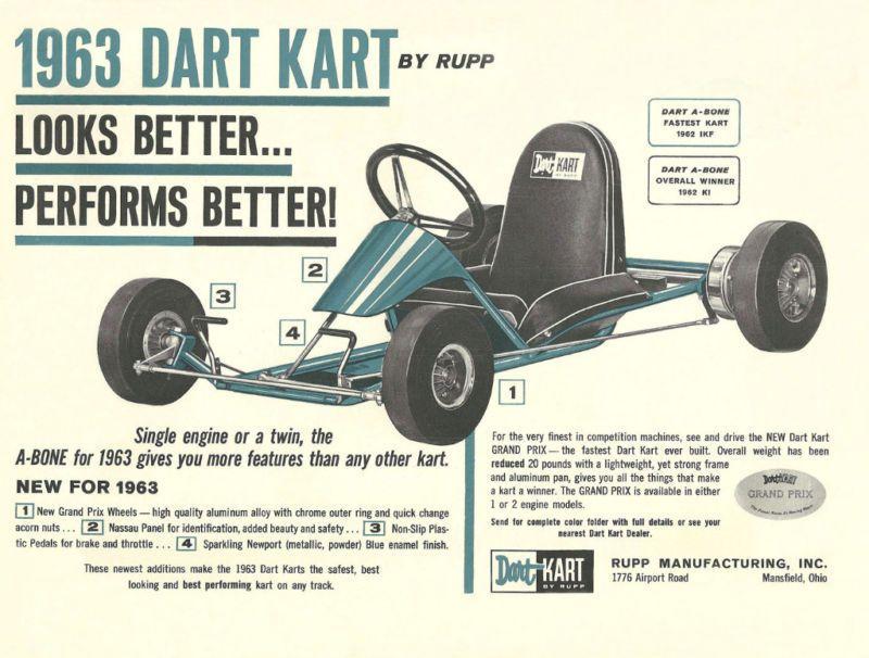 Vintage 1963 Rupp Dart Kart A Bone Go Kart Brochure   Go Kart   Go