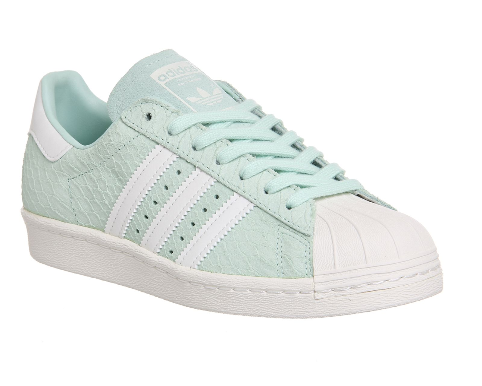Buy Frost Green White Exclusive Adidas Superstar 80's (w) from OFFICE.co.