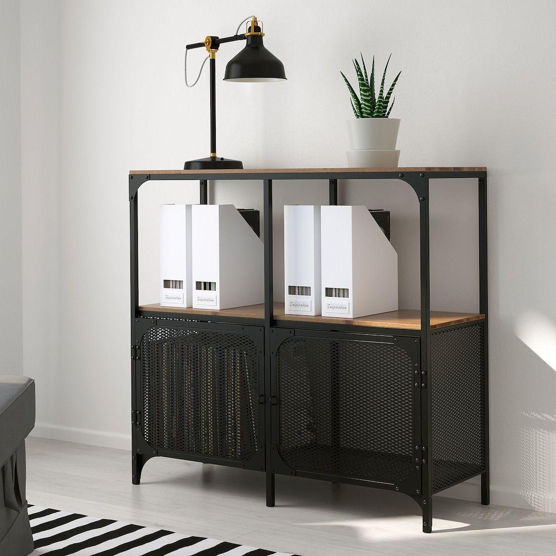 Fjallbo Shelf Unit Black 39 3 8x37 3 8 Ikea In 2020 Shelves Ikea Record Storage Shelf Unit