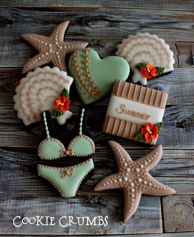 Mint and Beige Summer Cookies - mintlemonade - 4
