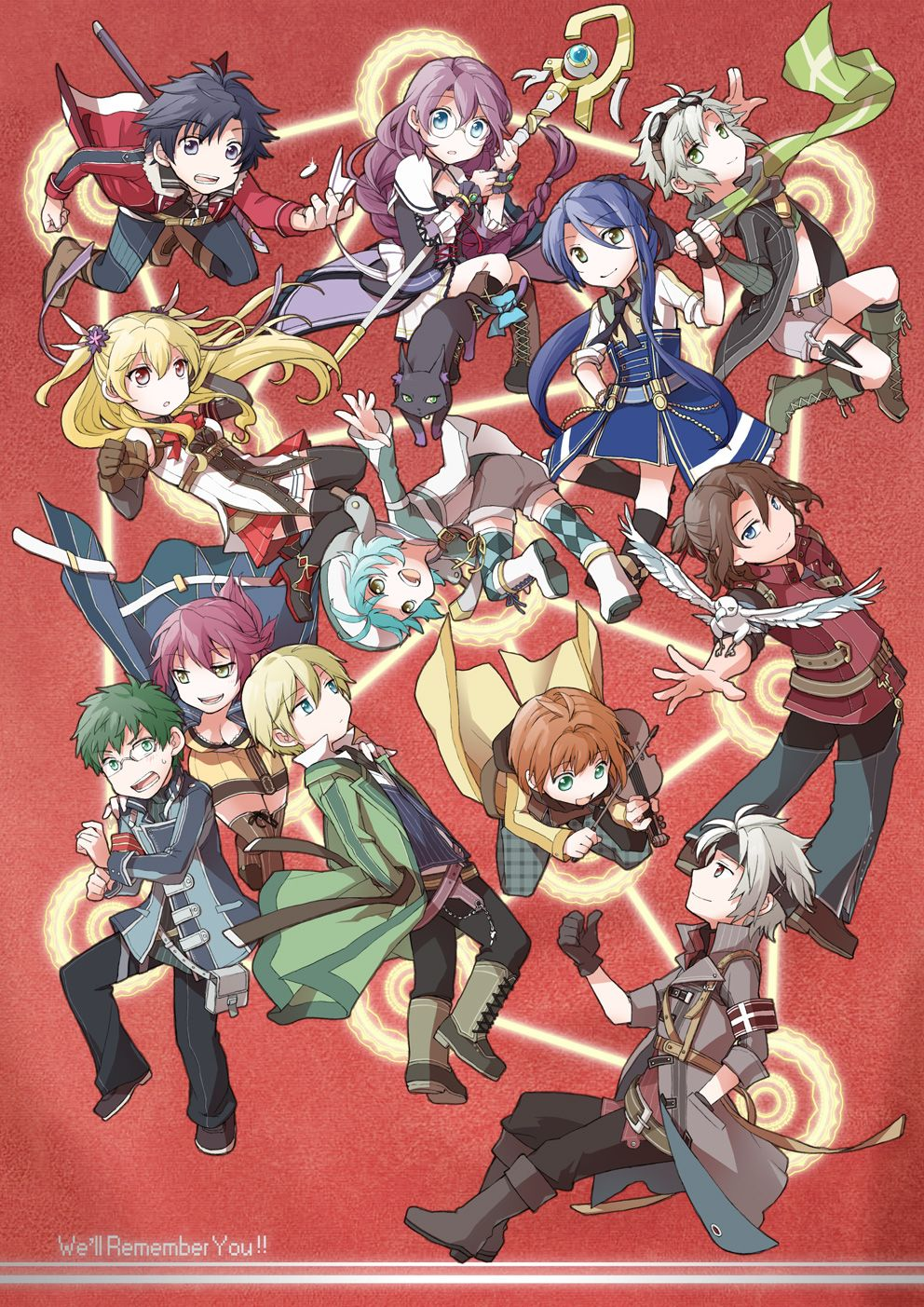 Cold Steel Chibi Style Trails Of Cold Steel Anime Art Girl Anime