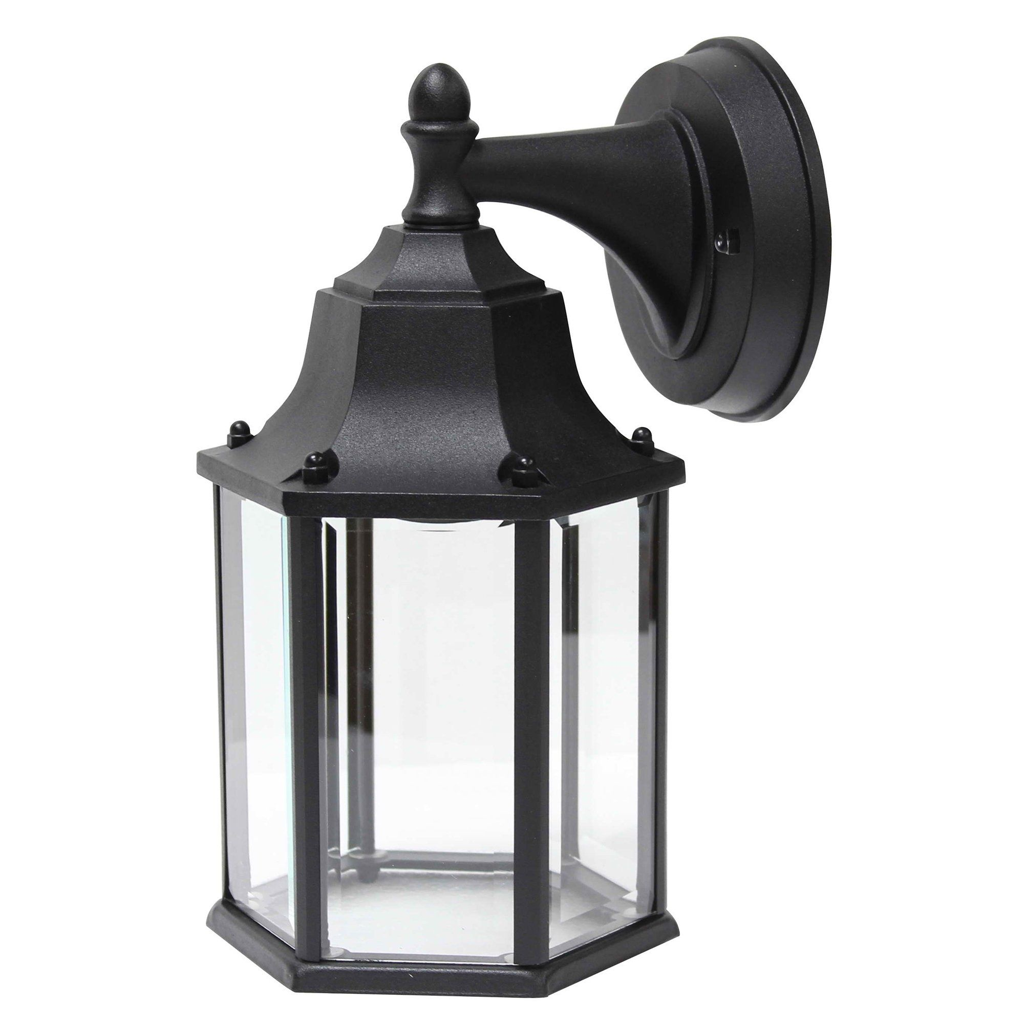 Exterior Led Light Fixtures Led Light Outdoor Wall Lighting In Black Y Decor Glass Products