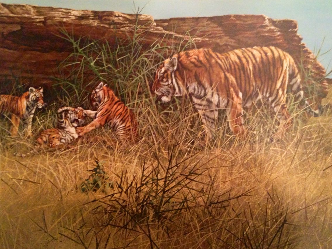 gary swanson signed and dated tiger print swanson fine art