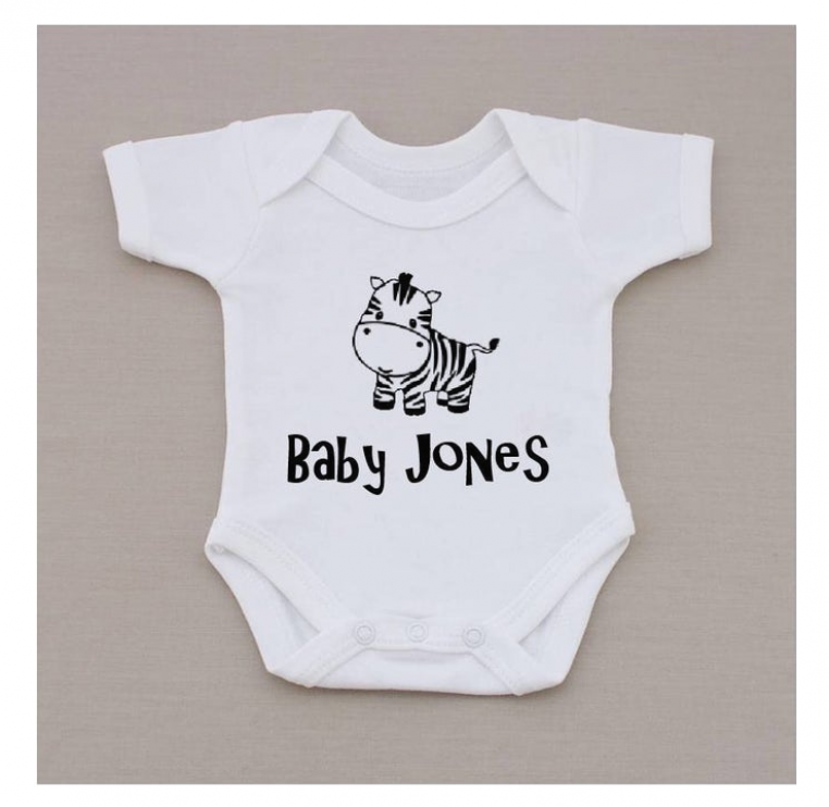 Personalised Name Baby Vest Grow Bodysuit Personalised Gift Any Name SHOWER