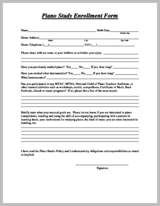 Enrollment Form For Adult Students The Enrollment Form For Adult