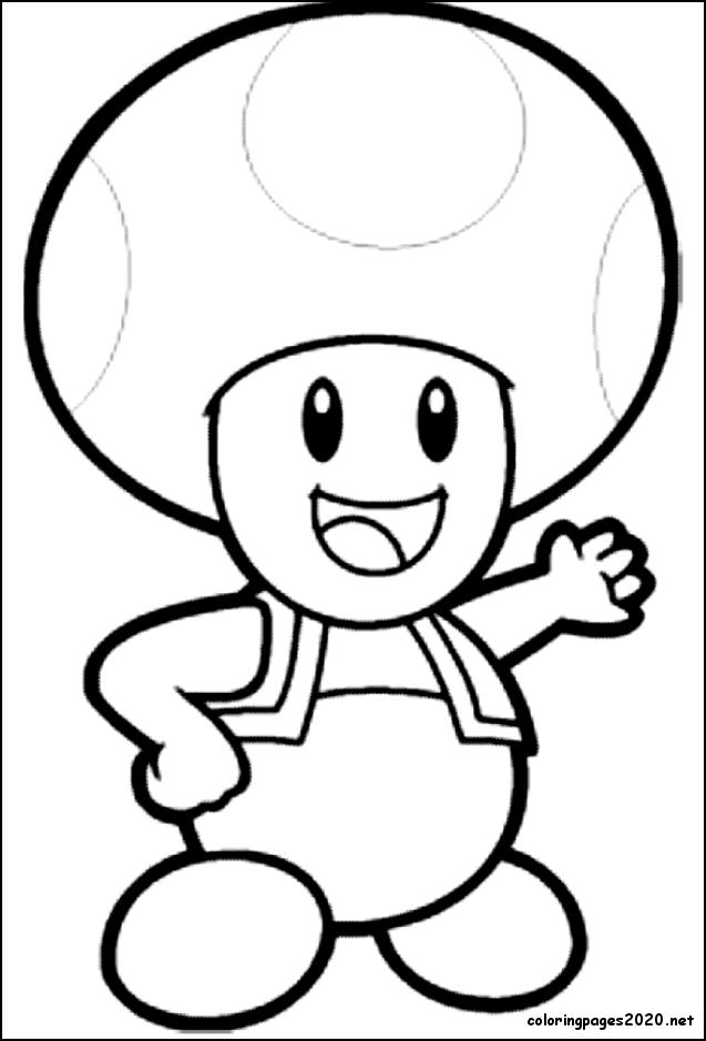 6 Drawing Toad Coloring Pages Printable Di 2020 Gambar