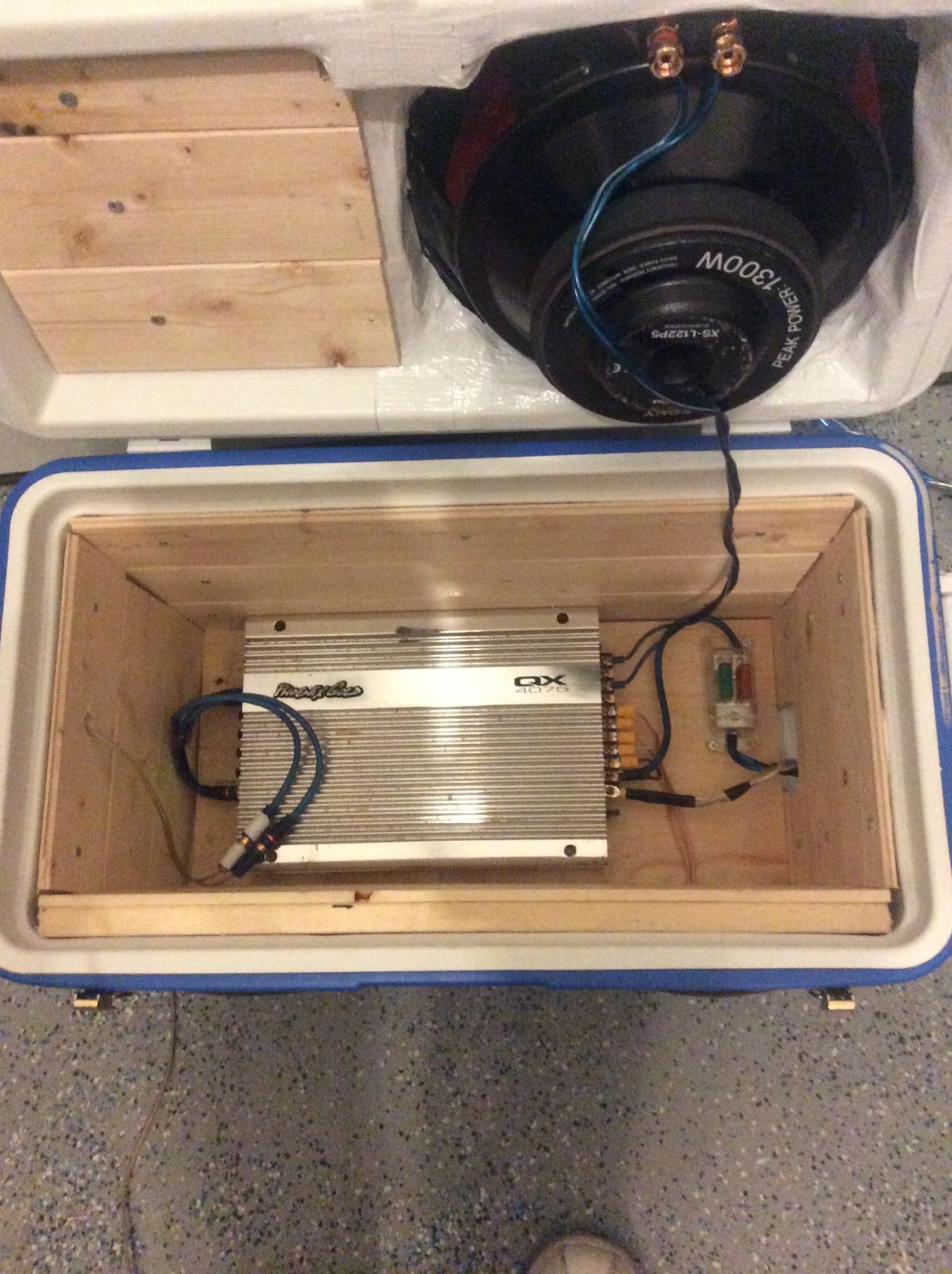 Cooler boom box inside view things iuve built pinterest