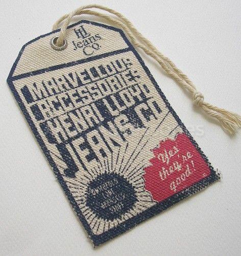 Henri Lloyd jeans co. #hangtag | Hang tags | Pinterest ...