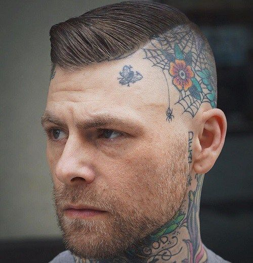 Side Shaved Haircut With Head Tattoo With Images Mens