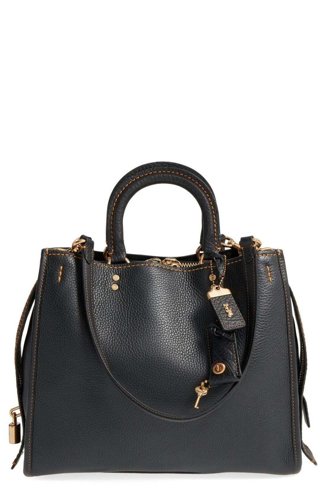 designer handbags coach 6hcw  Coach Rogue in black/old brass