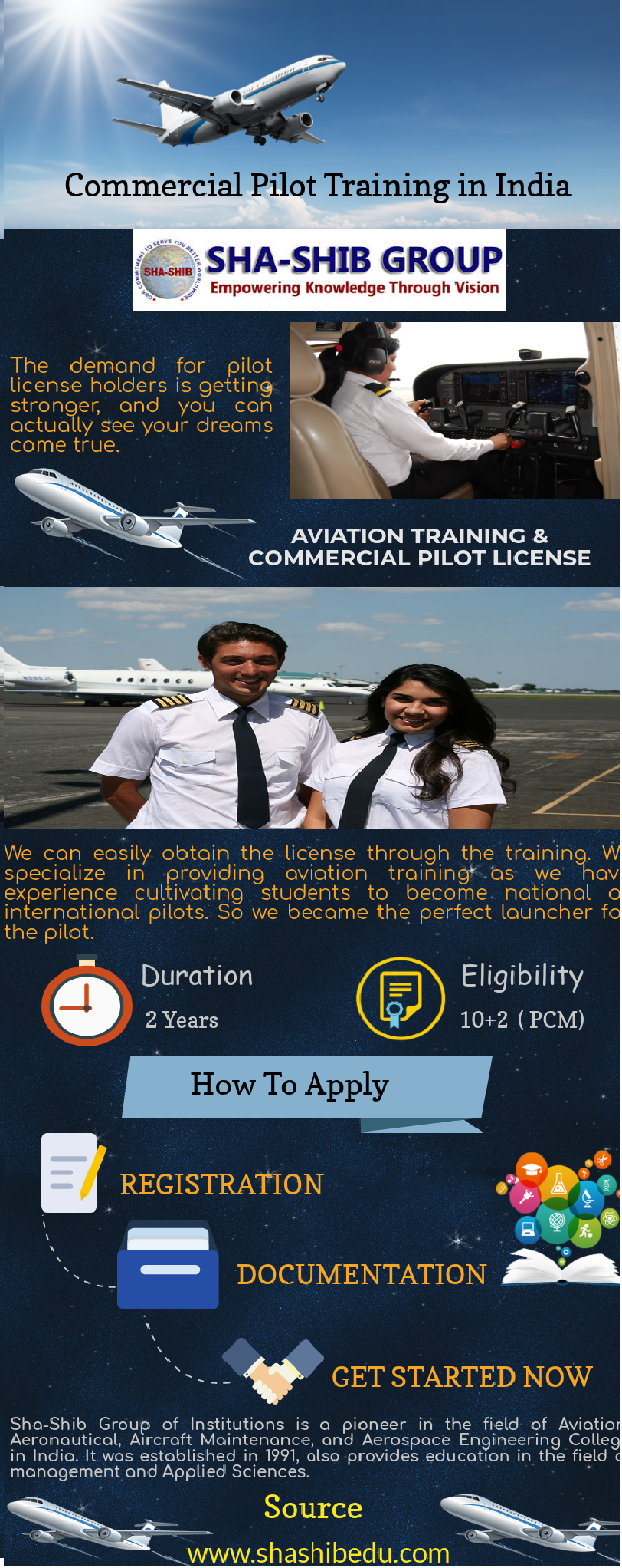 Demand for pilots who hold a commercial pilot license