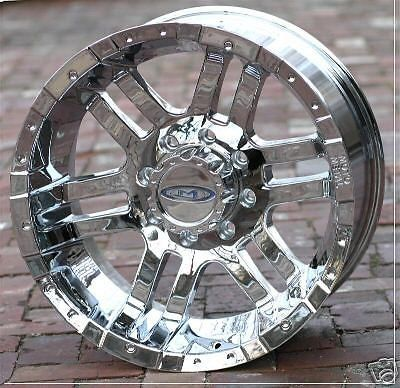 17 Inch Chrome Moto Metal 951 Wheels Rims Chevy Gmc Dodge Ram 2500 3500 H2 8 Lug Dodge Ram 2500 Wheel Rims Wheel