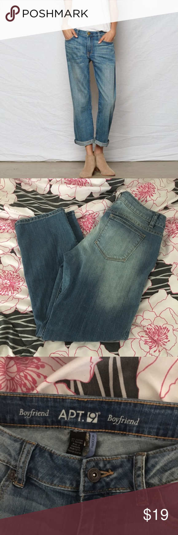 Boyfriend jeans New without tags. Apt. 9 Jeans Boyfriend
