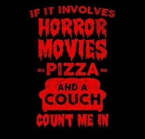 Horror, Couch And Pizza