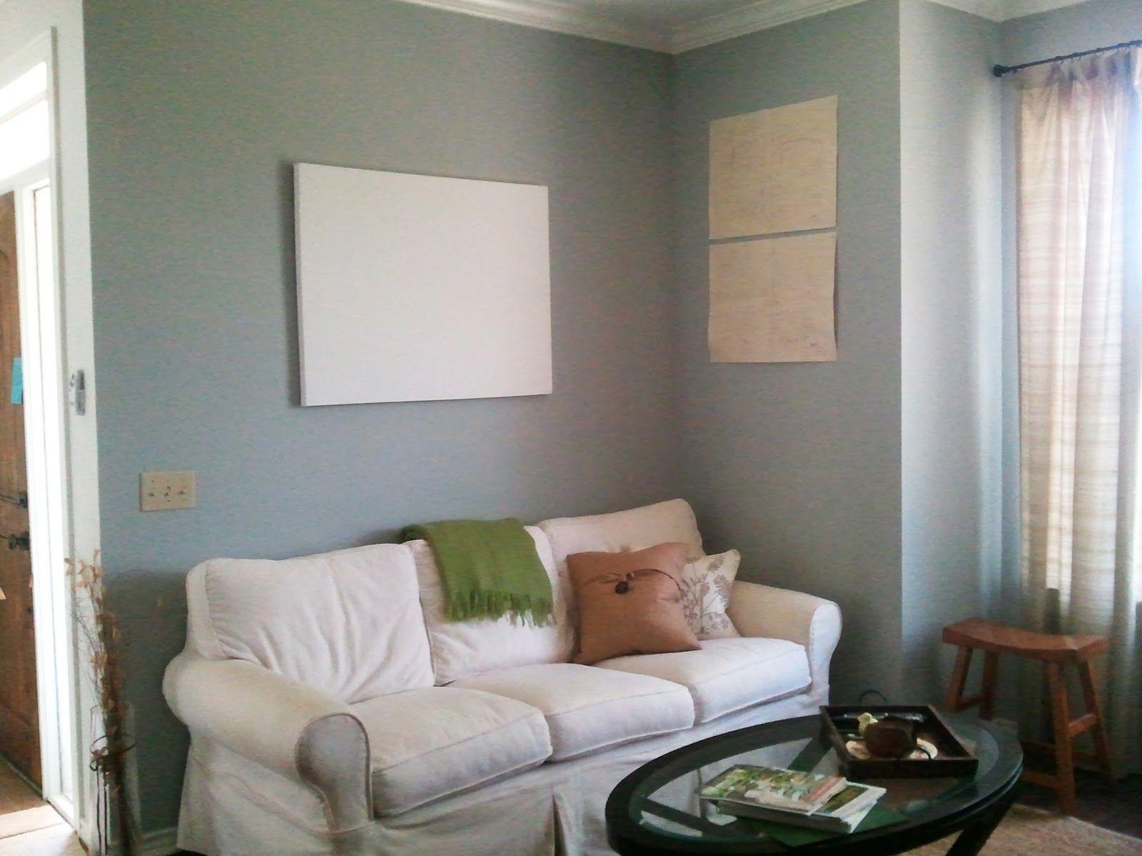 Warm Grey Living Room Benjamin Moores Sleigh Bells Paint Colors Pinterest Warm