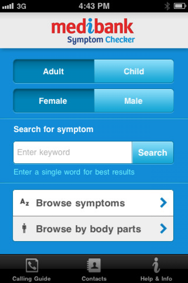 Symptom Checker Mobile Awards Symptom Checker Symptoms