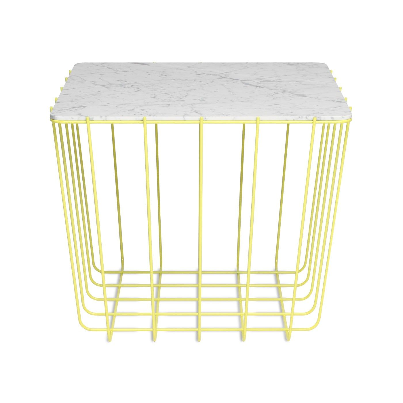Scamp medium table yellow marble 2 from blu dot furniture love this side table from blu dot the scamp table in yellow marble greentooth Choice Image