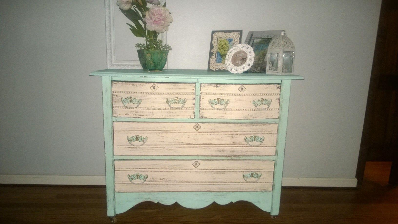 Shabby chic antique dresser