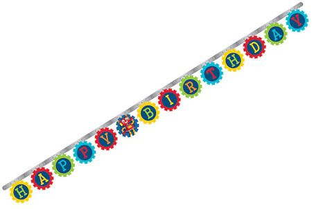 Party Robots Jointed Birthday Banner In 2018 Party Robots Birthday