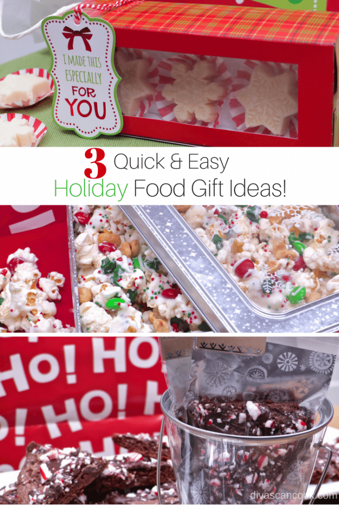 3 quick easy holiday food gift ideas sponsored easy quick and affordable food gift ideas fudge almond bark and holiday popcorn christmas food gifts that are simple to make forumfinder Images