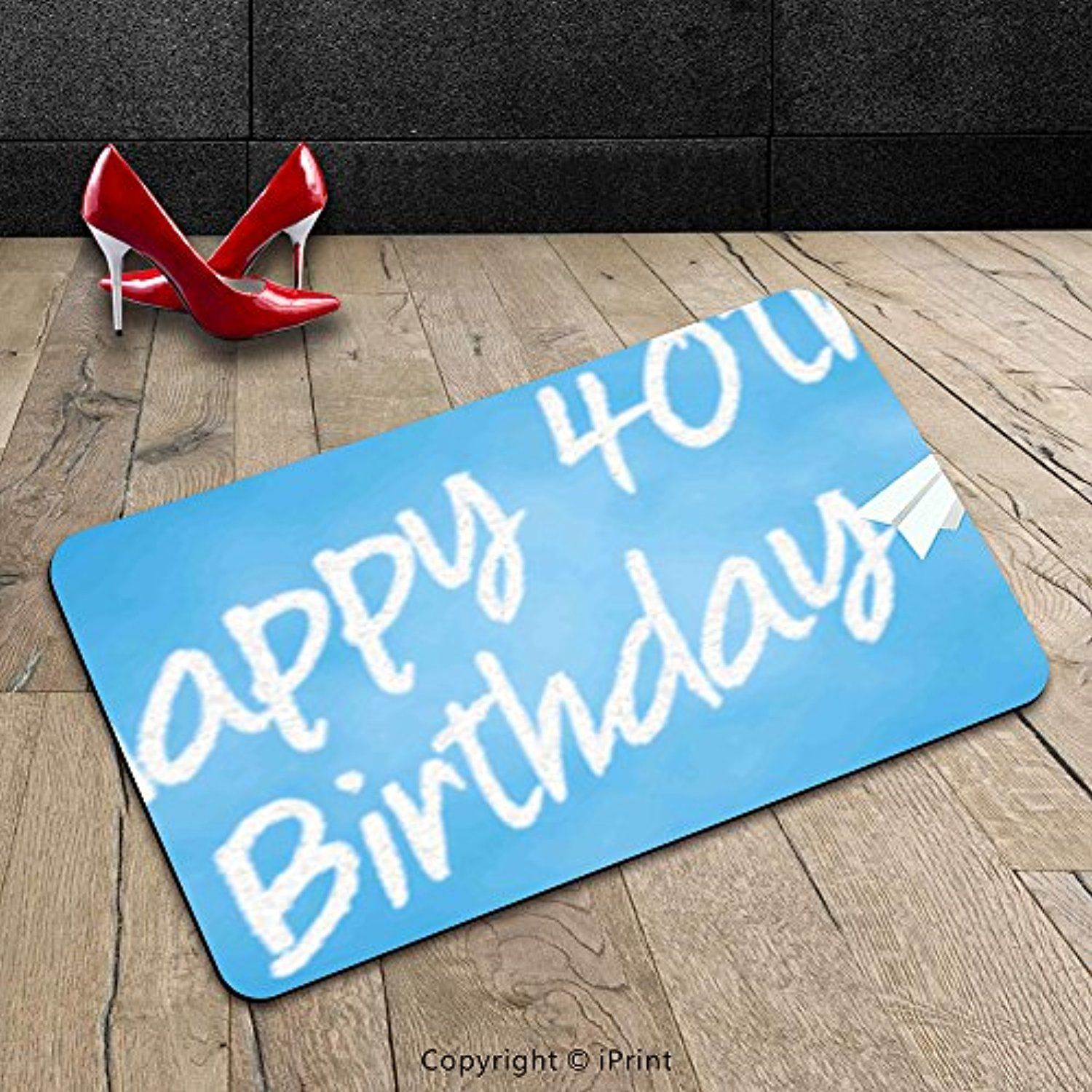 Custom Machinewashable Door Mat 40th Birthday Decorations