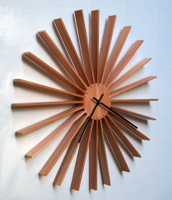 Modern Star Burst Wall Clock By Djwubs On Etsy Furniture