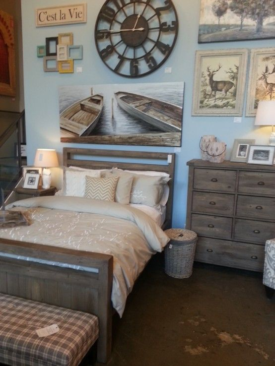 37 Wonderful Beach And Sea Inspired Bedroom Designs : 37 Beautiful Beach And Sea Inspired Bedroom Designs With White Black Blue Wall Bed Pillow Blanket Nightstand Lamp Wallpaper Chair Basket And Brown Carpet