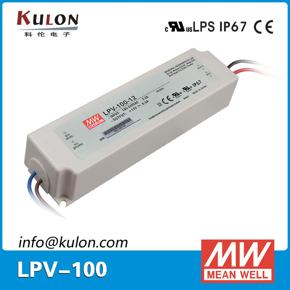 Mean Well Lpv 100 12 100w 12v Ip67 Waterproof Light Led Power Supply Led Power Supply Led Led Drivers