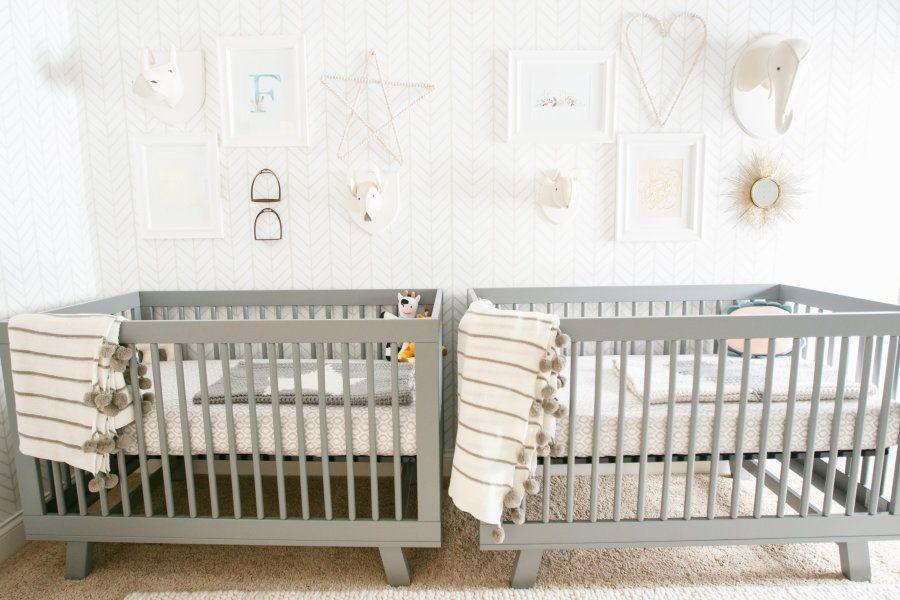 A Gender Neutral Nursery for Twins