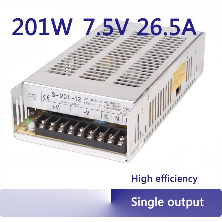 200w 7 5v Power Supply Ajustable 110 220v Ac To Dc Efficiency 220v 7 5volt Transformer 200w S 201 7 5 Affiliate Acdc Power Supply Transformers