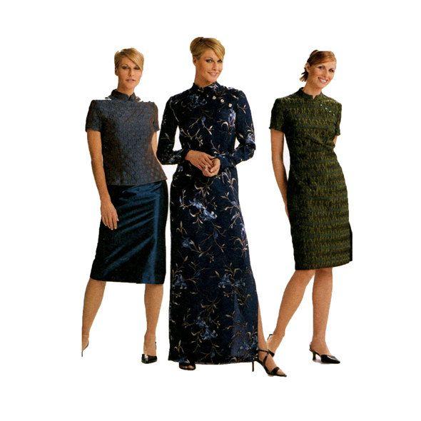 MAXI DRESS PATTERN Asian Style Dress or Top with Mandarin Collar ...