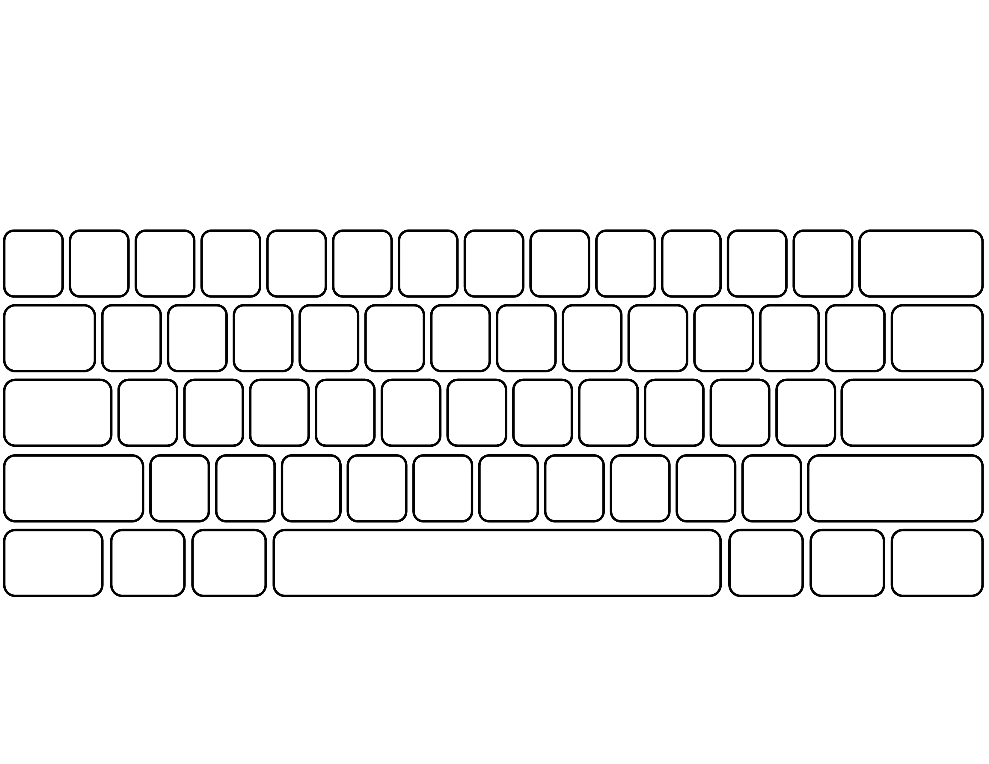Unforgettable image with keyboard template printable