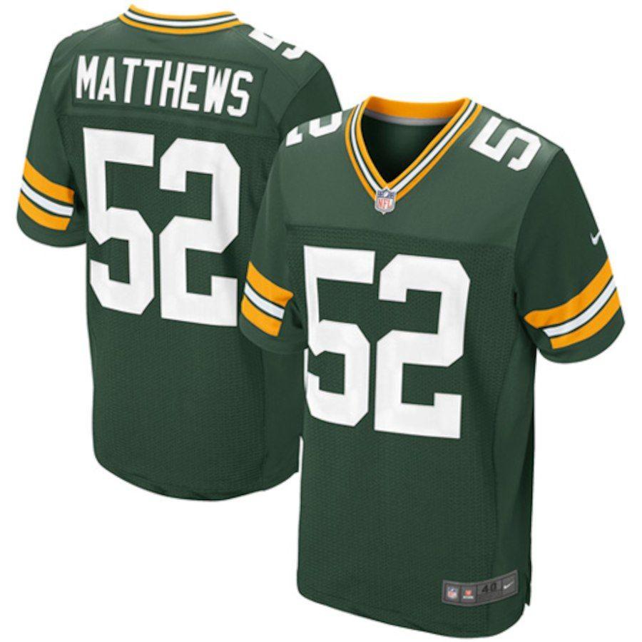 Mens Green Bay Packers Clay Matthews Nike Green Elite Jersey Playeras Para Parejas Jersey Nike Playeras