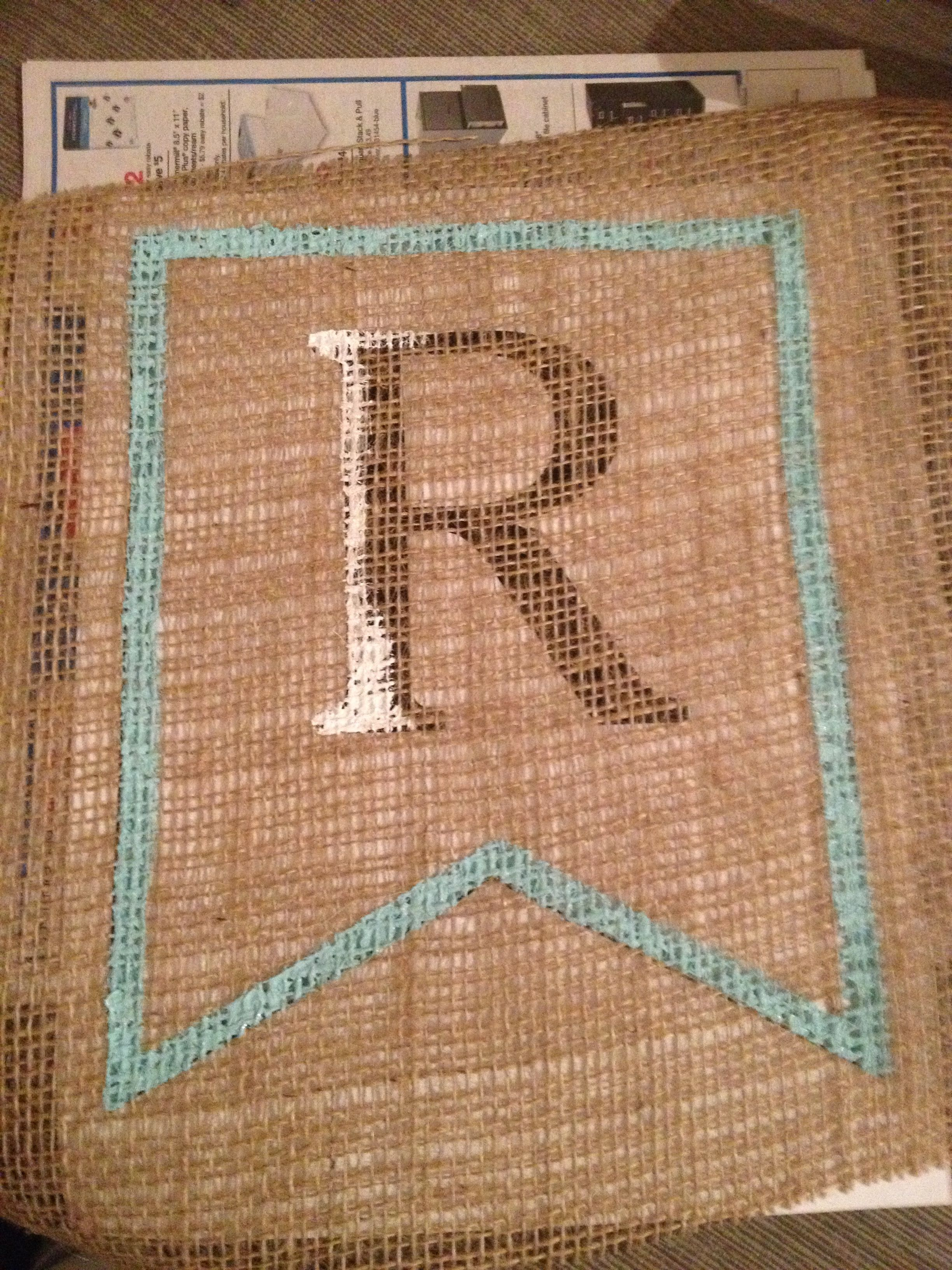 DIY Spring Burlap Banner with Free Banner Template | Burlap, Banners ...