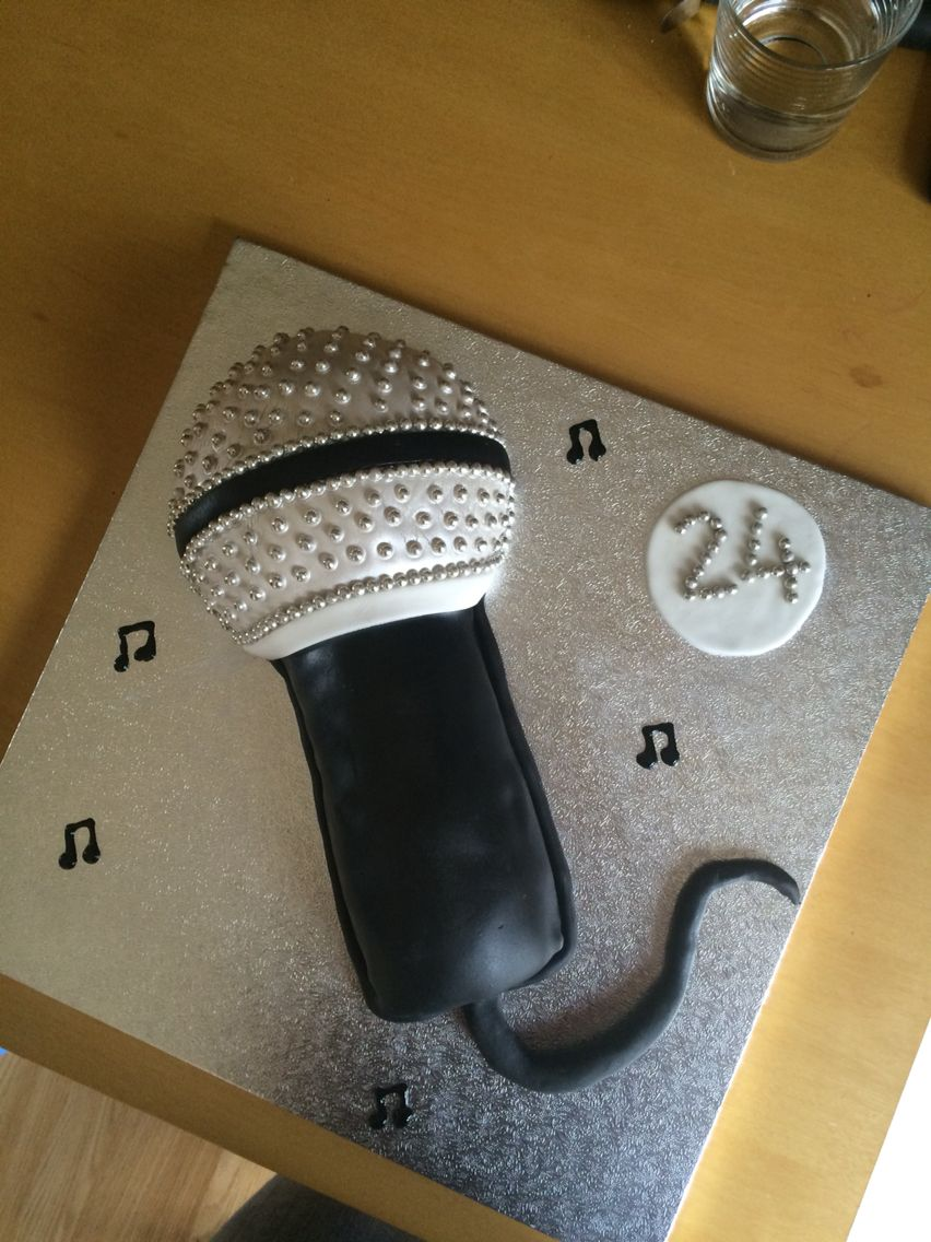 Microphone Birthday Cake Homemade Birthday Cake Ideas Pinterest