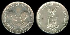 1936 US Commonwealth Of The Philippines QUEZON-MURPHY 50 Centavos Coin