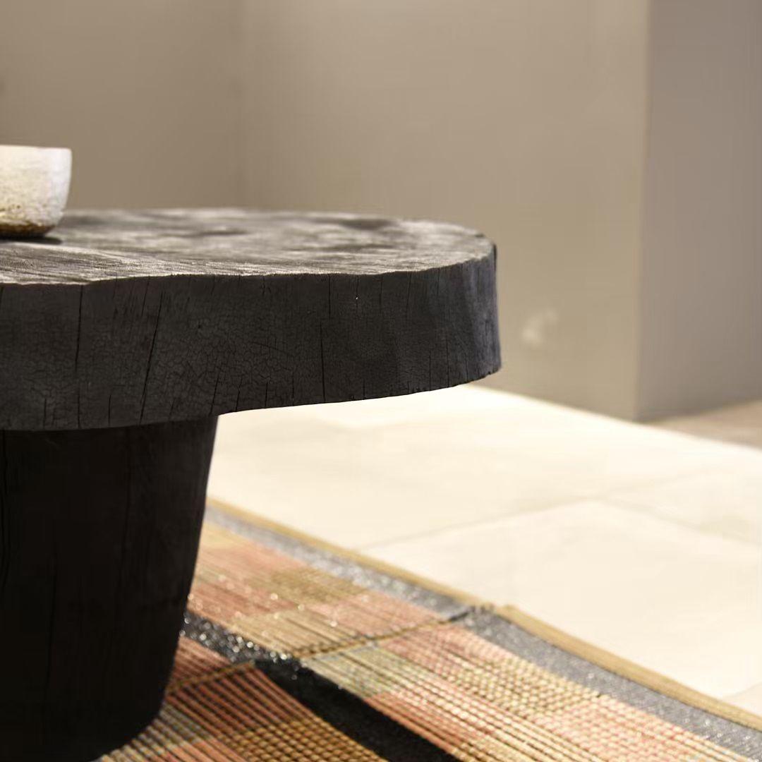 Piece En Bois Brule Table Basse Shou Sugi Ban Yakisugi Technique Japonaise Sebastien Krier Pour Ouvrage Prix Sur Demande In 2020 Coffee Table Table Home Decor